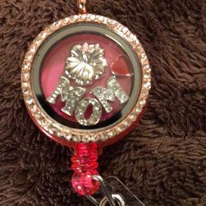 3/$75 Mom charm locket badge reel